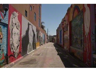 Clarion Alley, very much cleaned and renovated