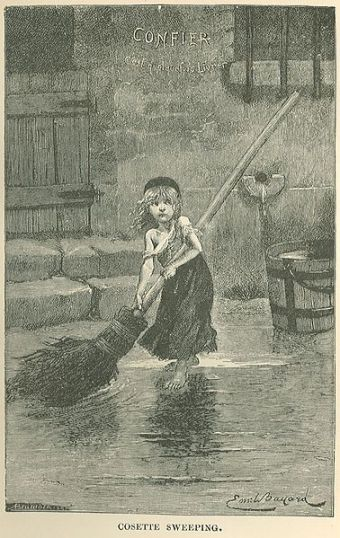 Cosette-sweeping-les-miserables-albert-bellenger-1886