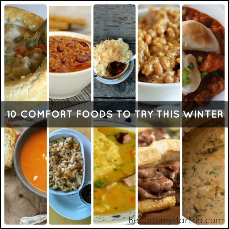 comfort foods collage