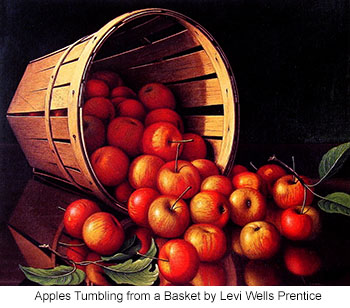 Levi-Wells-Prentice-Apples-Tumbling-from-a-Basket_350