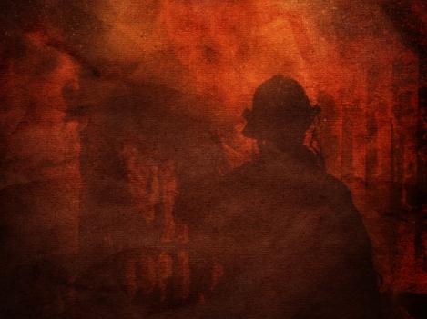 Walking through Fire-background