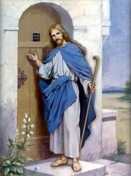 jesus knocking at the door coloring pages - the persistant knocker jesus at the door broken believers