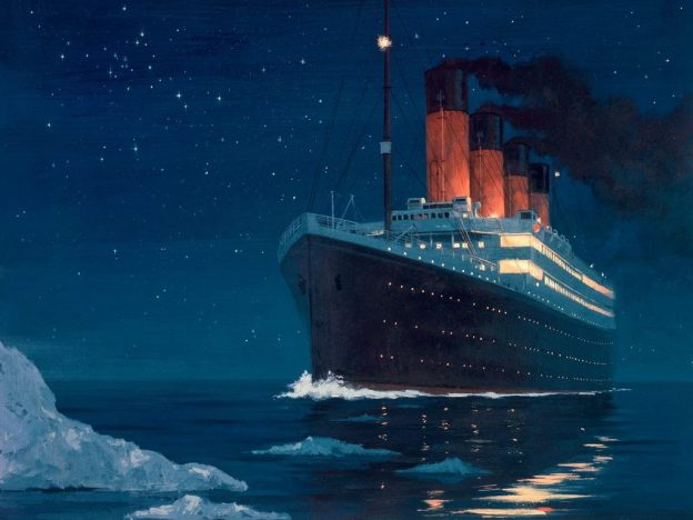 Titanic-Hitting-The-Icebery
